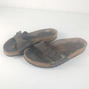Birkenstock Sandals Brown 1 Buckle Size 38